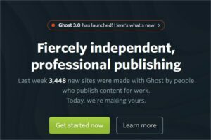 Ghost.org website