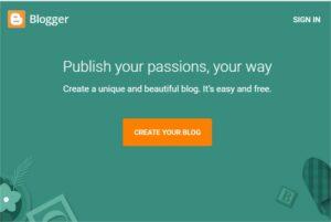 Blogger.com website