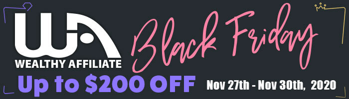 Amazing Wealthy Affiliate Black Friday offer on our yearly memberships