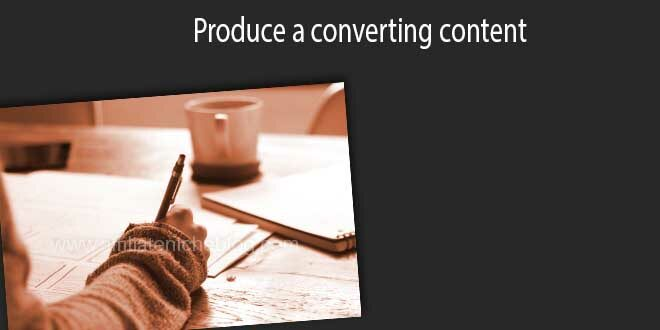 Produce a converting content