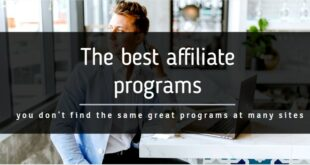 The best affiliate programs are an art form that requires work thinking